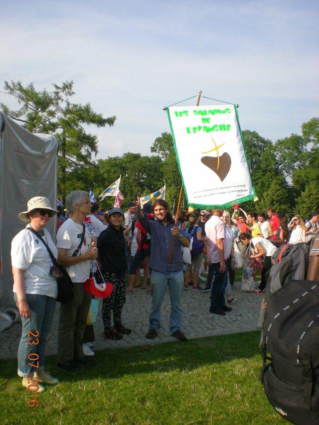 La bannière des Baladins à Cracovie